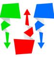 origami arrow set vector image vector image