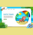 paper cut exotic travel landing page vector image