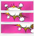 Pop-art explosion steam bang web banners vector image vector image