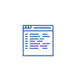 programmingcoding line icon concept programming vector image vector image