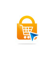 save online shopping logo vector image