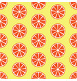 seamless pattern with orange slices vector image