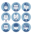Set icons with characters Different professions vector image vector image