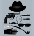 set mens accessories and items vector image