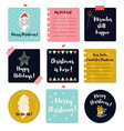 Set of Merry Christmas greeting cards vector image vector image