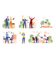 set people searching ideas and solutions vector image