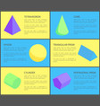 six geometric posters color vector image vector image