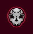 skull mascot logo with little horn skull gaming vector image vector image