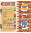 Slovenia infographics statistical data sights vector image vector image