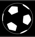 soccer ball the white color icon vector image vector image