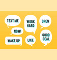 speech bubbles set message cloud talk vector image