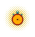 Stopwatch comics icon vector image vector image
