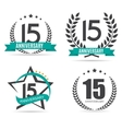 Template Logo 15 Years Anniversary Set vector image vector image