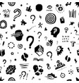 thinking questions - seamless background vector image
