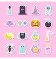 Trick or Treat Halloween Stickers vector image vector image