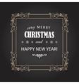 Vintage Christmas frame on chalkboard vector image