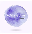 Watercolor Purple Element vector image