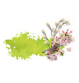 watercolor spring banner vector image