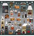 winter country houses vector image vector image
