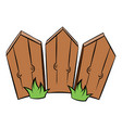 wooden fence icon cartoon vector image