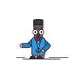 line comic avatar of man vector image