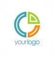 round diagram colored logo vector image