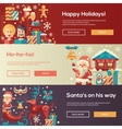 Christmas flat design website banners vector image