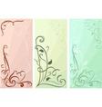 Color floral vertical banners set vector image