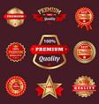 set of badges shop product sale best price vector image