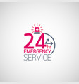 24hr emergency service logo vector image