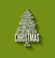 abstract christmas tree made from words vector image vector image