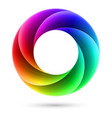 abstract colorful spiral ring on white background vector image vector image