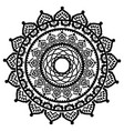 asian culture and henna tattoo inspired mandala 2 vector image vector image