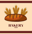 baguette bread bakery design vector image vector image