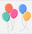 balloon ballon flat cartoon birthday party vector image