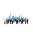 business people cityscape background vector image