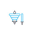 candles linear icon concept candles line vector image