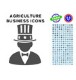 capitalist icon with agriculture set vector image vector image