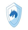 cartoon shield dragon ancient war symbol vector image vector image