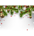 Christmas banner with spruce branches vector image