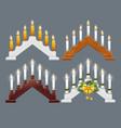 christmas candle bridge vector image