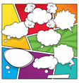 comic speech bubbles and colored halftone vector image