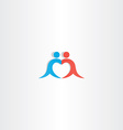 couple boy and girl heart love logo icon vector image vector image