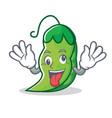 crazy peas mascot cartoon style vector image vector image