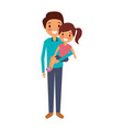 dad carrying their daugther child vector image vector image