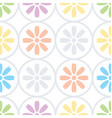 daisy floral seamless pattern vector image vector image