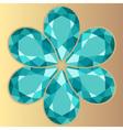 Emerald decorative composition vector image