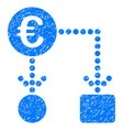 euro flow chart grunge icon vector image vector image