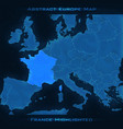 europe abstract map france vector image vector image