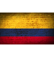 Flags Colombia with dirty paper texture vector image